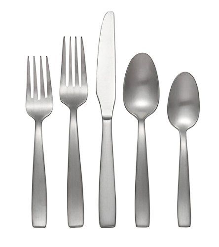 45-Piece Brushed Stainless Steel Casual Dishwasher Safe Flatware Set (Service For 8)