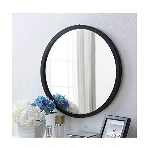 HGXC Espejo de baño, Espejo de Espejo de Madera Colgante de Pared Simple Redondo con Espejo de Maquillaje de Marco Espejo...