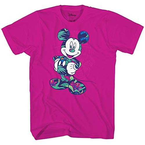 Disney Mickey Mouse Tropical Wash Disneyland World Tee Funny Humor Adult Mens Graphic T-Shirt Apparel (Magenta, XX-Large)
