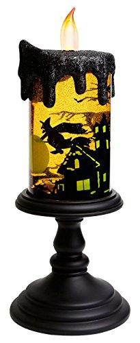 Christmas Witch Tornado LED Flameless Candle, Battery Operated Table Centerpiece for Home and Party]()