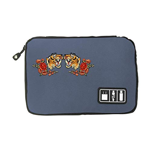 Electronic Accessories Travel Bag Tiger USB Flash Drive Case Bag Wallet, SD Memory Cards Cable Organizer ()