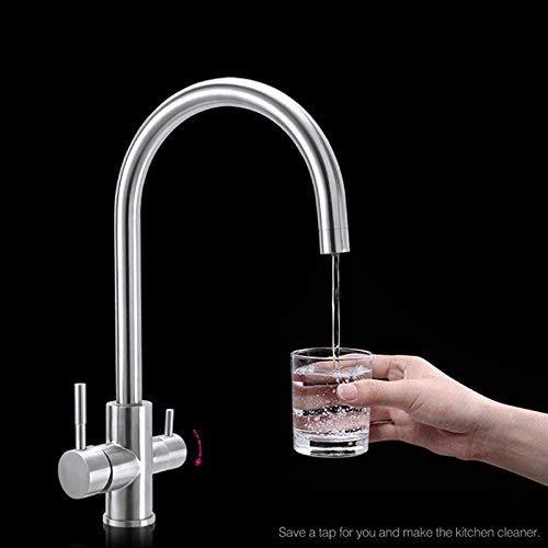 Decck Grifo de agua potable de doble manija Purificador de ...
