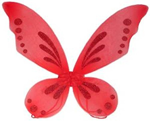 Lil Princess Kids Red Pixie Fairy Costume Wings]()