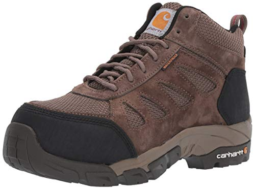 Carhartt Waterproof Hiker - Carhartt Women's Lightweight Wtrprf Mid-Height Work Hiker Carbon Nano Safety Toe CWH4420 Industrial Boot Brown Brushed Suede/Nylon 11 M US