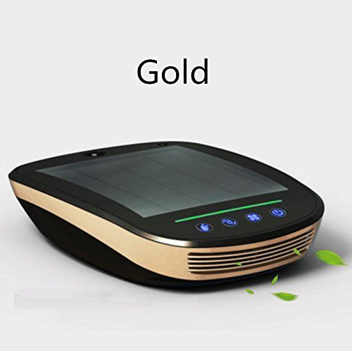 EOEO Intelligent solar car air purifier to remove formaldehyde humidification car with aroma to taste PM2.5 haze (Gold) by NEW