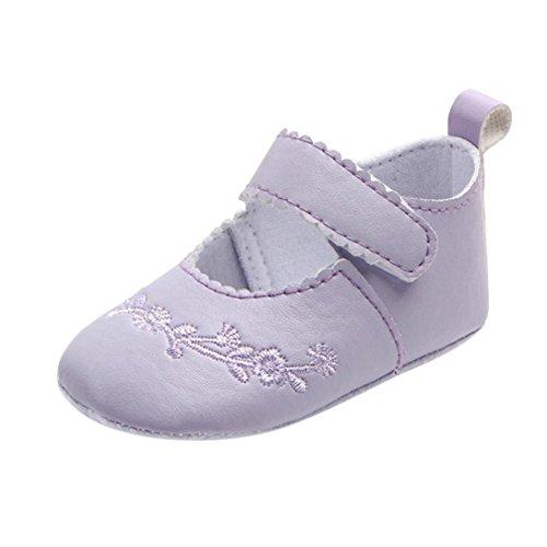 Clode® Neugeborenes Baby Mode Sneaker Mädchen Stitchwork Anti-Rutsch-Single-Schuhe Sneaker Lila