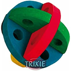 Trixie Small Pet Toy Play And Snack Wooden Ball