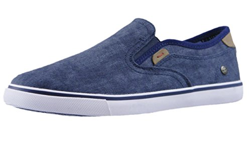Sneakers Uomo Bleu 62 on WRANGLER Tela nera Scarpe WM181001 in MITOS Slip UqOOxpHBw