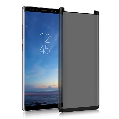 Shilling 3D Galaxy Note 8 Screen Protector Privacy[Upgrade Version] Anti-spy Tempered Glass Screen Film 9H Hardness Anti-Scratch Anti-Peep Shield for Samsung Galaxy Note 8,Easy Install-Black by Shilling