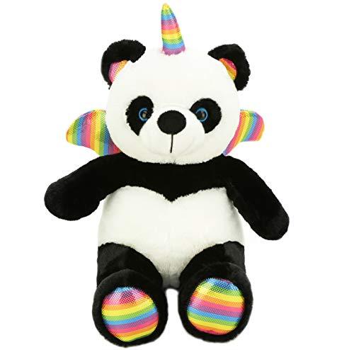 Joy Amigo Shaun-Tsy The Pandacorn | Cute Panda Bear Stuffed Animal Plush Soft Unicorn Teddy Toy | Pandicorn with Rainbow Wings and Horn | Pandicornio for Kids Party Supplies | ()