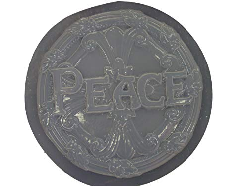 Round Peace Stepping Stone Concrete Plaster Mold 1016