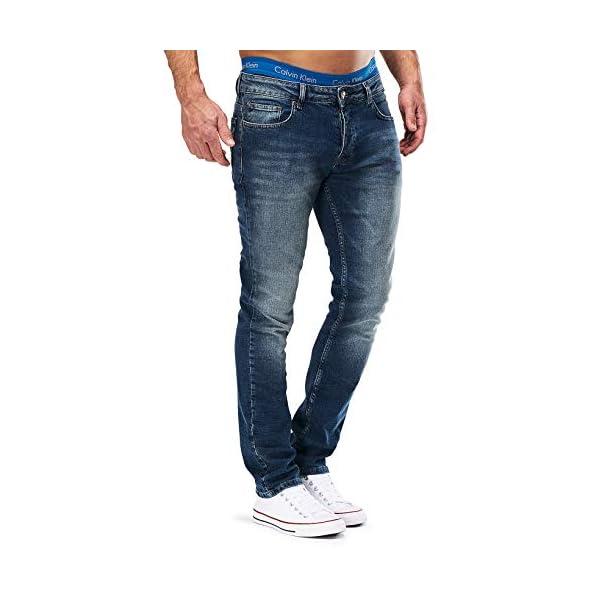 41JXJDKmM0L. SS600 - MERISH Jeans Herren Slim Fit Jeanshose Stretch Designer Hose Denim