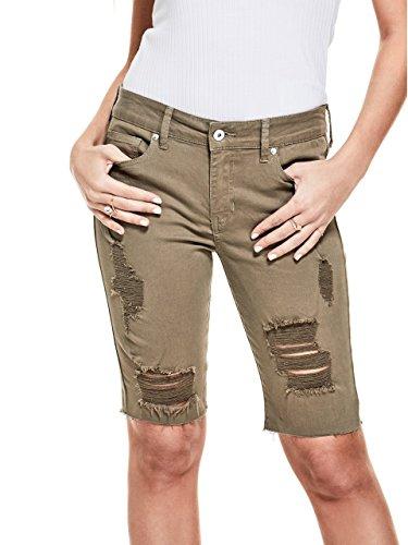 G by GUESS Women's Everly Denim Longboard Shorts