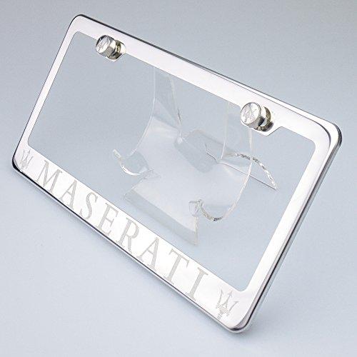 100-stainless-steel-maserati-laser-engrave-chrome-mirror-polish-license-plate-frame-holder-with-logo