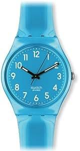 Swatch Colour Code Coll. RISE UP GS138 - Reloj unisex de cuarzo, correa de caucho color azul claro