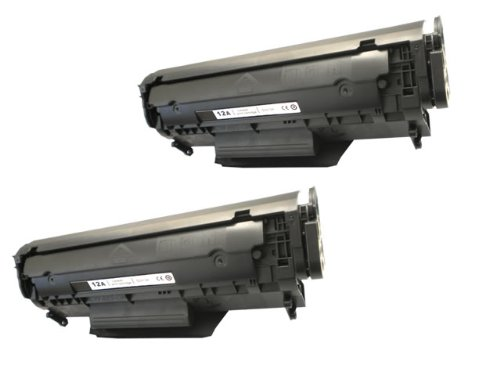 2PK Compatible Black Laser Toner Cartridge for HP Q2612A 12A for Laserjet 1020 3050 3055, Office Central