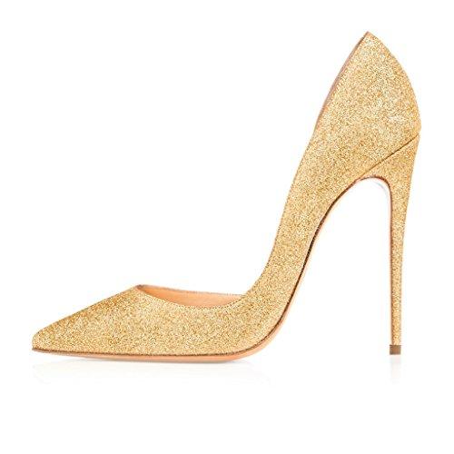 EDEFS - Pantuflas de caña alta Mujer Gold-Mat