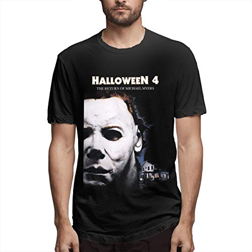 BTBANIN Mans Halloween 4 The Return of Michael Myers Movie Gorgeous Shirts L Black]()