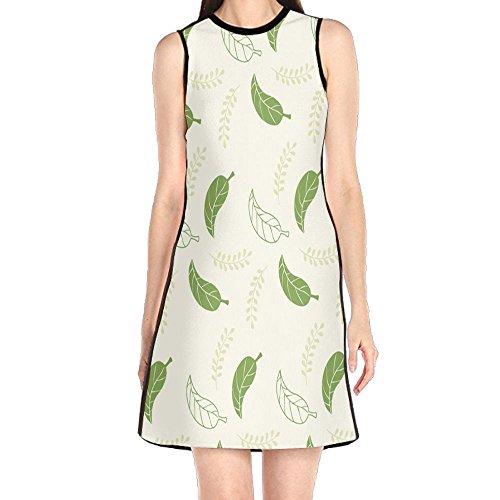 MONILO Family Mural Pattern Women's Lady Sleeveless Mini Dress Print Party Dress Tank (Mini Mural)