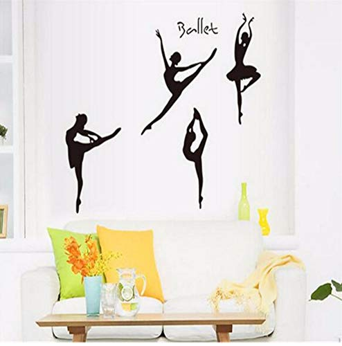 LSFHB Dancing Ballet Girls Sketch Wall Stickers for Living Room Bedroom Bathroom Decoracion Children Kids Room Wallpapers Home Decor 50X70Cm