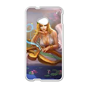 HTC One M7 Cell Phone Case White League of Legends Muse Sona PD5450797