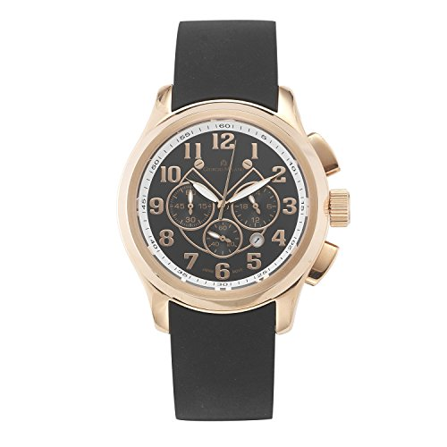 Giorgio Milano 992RG0313 Stainless Steel Rose Gold Tone Case, Chronograph with Date, Silicone Watch