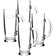 Cathy's Concepts Home State Craft Beer Mugs, Set of 4, North Carolina