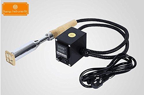 Handheld Mannual 300W Electric Soldering Iron Hot Foil Stamping Machine Wood Embossing Machine Cake Branding Press Welding Machine (110V)