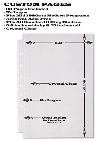 Broadway Play Program and Theater Playbill Binder with 30 Custom Sheet Protectors - PU Leather - Fits Playbills from Mid 1980s to Modern (Black EmbossedP) by 2Fold Supply (Image #2)