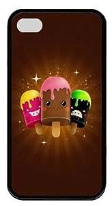 Eskimo Pie TPU Black Case for iphone 4S/4