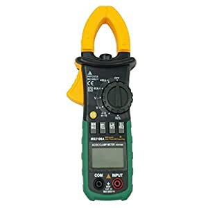 RioRand MS2108A Auto Range DC AC Current Digital Clamp Meter Multimeter Voltage Frequency Meter