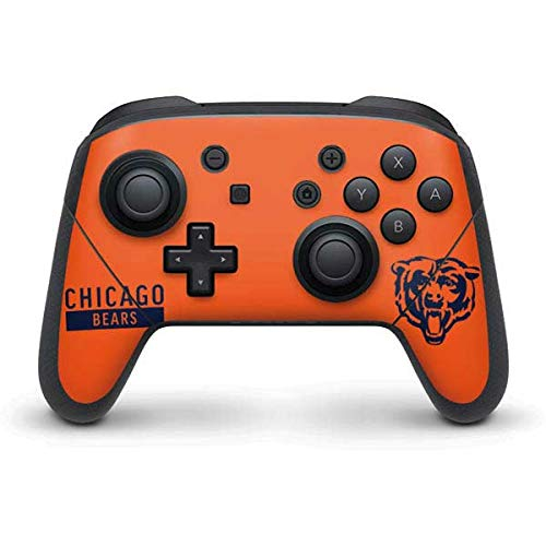 (Skinit Chicago Bears Orange Performance Series Nintendo Switch Pro Controller Skin - Officially Licensed NFL Gaming Decal - Ultra Thin, Lightweight Vinyl Decal Protection)
