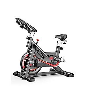 41JXLEYI9BL. SS300 Zavddy-SP Spin Bike Mobile Bike Ultra Quiet Home Auto Fitness Pedale Indoor Sports Bike Esercizio aerobico Indoor Bike Fitness Training Cardio Spin Bike Esercizio di Bicicletta (Colore : Nero)