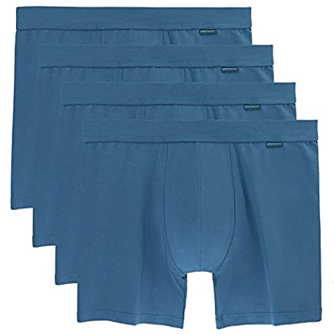 David Archy Men's 4 Pack Vintage Classic Modal Cotton Boxer Briefs(M,Blue) - 4 Pack Boxer Brief