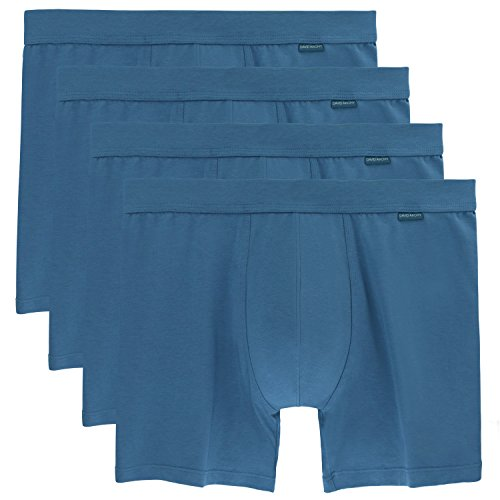Blue Vintage Underwear (David Archy Men's 4 Pack Vintage Classic Micro Modal Cotton Boxer)