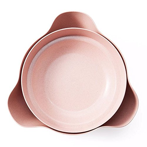 Dish Nut Bowl/ Pistachio Bowl/ Pedestal Snack Dish/ Olive Nut Server Serving Bowl(Pink) (Double Nut Dish)