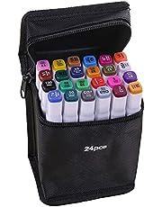 Staright 40 cores marcadores marcador de Ponta Dupla Caneta Esboçando Escrita Pintura marcador de Sublinhação Artista Desenho marcadores de Arte de Duas Pontas com Saco de Armazenamento Zip