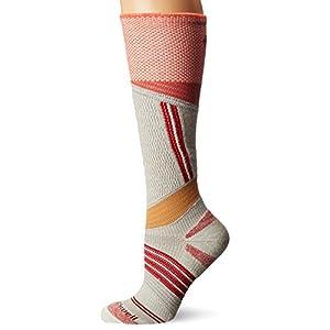 Sockwell Women's Alpine Cushioned Ski Graduated Compression Socks, Natural, Small/Medium