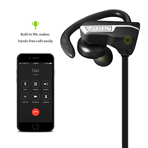 Amazon.com: Vtin Auriculares Bluetooth 4.1 Inalámbrico con Sonido Estéreo para Deporte / Correr con AptX y Manos Libres: Cell Phones & Accessories