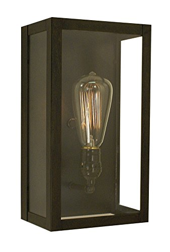 Arroyo Craftsman Vintage Sconce Raw Copper Metal Finish, Rain Mist Glass, 12