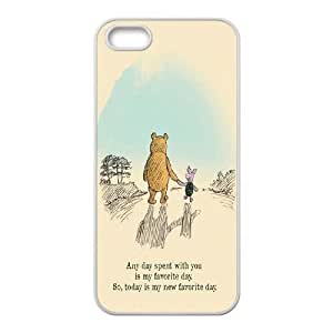 Custom Hard Protective Cover Case for Iphone 5,5S Phone Case - Winnie the Pooh quote HX-MI-1615984
