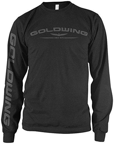 Motorcycle Shirts Honda (Honda Men's Gold Wing Black Long-Sleeve T-Shirt, XL)