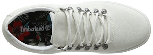 Timberland Cupsole Canvas Stringate Fabric 2 0 Oxford white Uomo Adventure 100 Scarpe Bianco rq6tUPFrw
