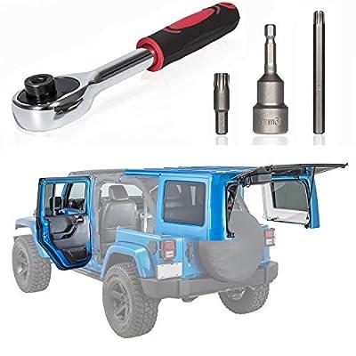 Sunluway Torx Tool Kit Fits Jeep Wrangler Hard Top & Door Removal Tool for JK JKU JL 2007-2020 82214166AB 68361574AB: Automotive