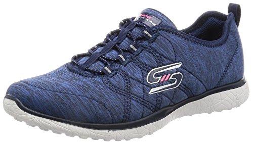 Skechers - Zapatillas de Material Sintético para mujer azul marino
