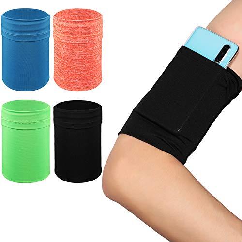 4 Pieces Arm Strap Wristband Holder Running Phone Arm Holder Phone Armband Wristband Phone Running Arm Raglan Sleeve…