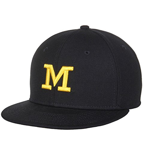 Air Jordan Michigan Wolverines Navy Blue Wool Coaches Sideline Full Fitted Hat - Adult 7