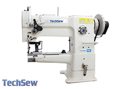 TechSew 2600 PRO Narrow Cylinder Leather Walking Foot Industrial Sewing Machine with Assembled Table & Servo Motor