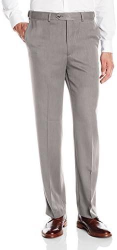 Savane Pantalon Para Hombre Grande Y Alto Con Parte Delantera Plana Y Micro Brida Gris Plomizo 34w X 32l Amazon Com Mx Ropa Zapatos Y Accesorios