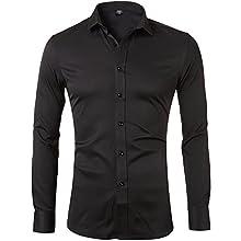Men's Bamboo Fiber Slim Fit Formal Dress Shirt